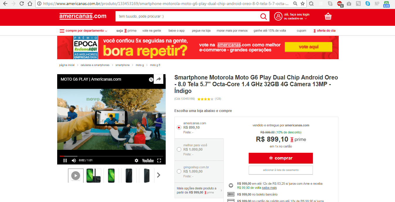 vídeos no e-commerce